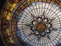 Tetto di vetro macchiato fotografie stock libere da diritti