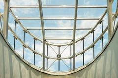 Tetto di vetro moderno Fotografia Stock