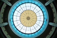 Tetto di vetro moderno di costruzione Fotografia Stock Libera da Diritti
