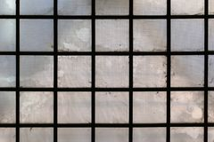Tetto di vetro di vecchia costruzione fotografia stock
