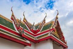 Tetto di Wat in tempio immagini stock