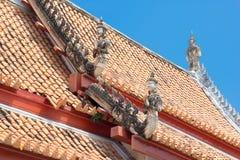 Tetto di Wat in tempio fotografia stock libera da diritti