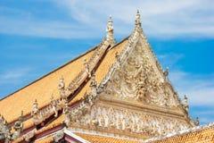 Tetto di Wat in tempio fotografia stock