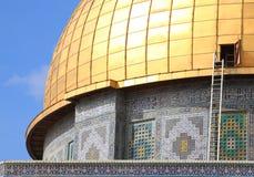 Tetto dorato della Al-aqsa-moschea Fotografia Stock Libera da Diritti