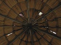 Tetto e fasci di bambù Immagine Stock Libera da Diritti