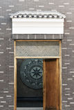 Tetto e parete grigi Fotografie Stock Libere da Diritti