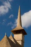 Tetto e steeple di legno della chiesa Fotografia Stock Libera da Diritti