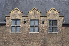 Tetto e Windows del castello Fotografia Stock Libera da Diritti