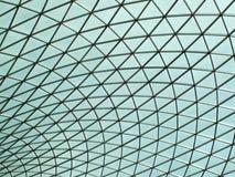 Tetto futuristico del soffitto di vetro di British Museum Immagine Stock Libera da Diritti