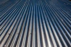 Tetto galvanizzato della lamiera di acciaio Immagini Stock Libere da Diritti
