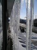 Tetto ghiacciato Fotografie Stock Libere da Diritti