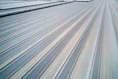 Tetto industriale di alluminio del metallo con le scanalature Immagine Stock Libera da Diritti