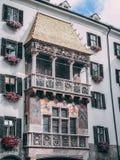 Tetto Innsbruck centro urbano aprile 2016 dorato Immagine Stock Libera da Diritti