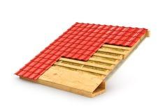 Tetto nei termini L'isolamento del tetto di dimostrazione illustrazione di stock