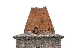 Tetto pendente, costruito dei mattoni bruciati Fotografia Stock