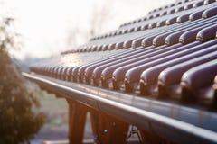 Tetto piastrellato del supporto conico di legno Immagine Stock Libera da Diritti
