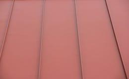 Tetto rosso del metallo Fotografia Stock Libera da Diritti