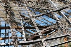 Tetto rotto della capanna Fotografie Stock