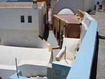 Tetto in Santorini Immagine Stock