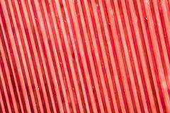 Tetto a strisce metallico rosso Immagini Stock Libere da Diritti