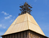 Tetto sul tetto della torretta Fotografia Stock