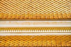 Tetto tailandese del tempiale, Wat Prathatnongbua Fotografia Stock
