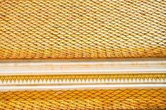Tetto tailandese del tempiale, Wat Prathatnongbua Fotografia Stock Libera da Diritti