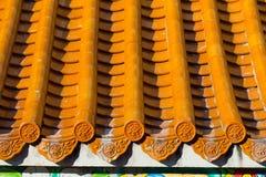 Tetto in tempiale cinese Fotografia Stock