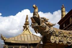 Tetto tibetano del tempiale Fotografia Stock