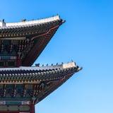 Tetto tradizionale coreano La Corea Seoul, il Sud Corea fotografia stock libera da diritti
