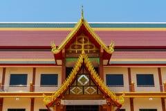Tetto variopinto del tempio tailandese immagini stock libere da diritti