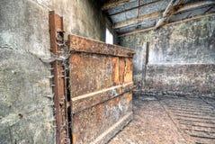 Tettoia abbandonata Fotografie Stock