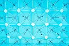 Tettoia degli ombrelli quadrati Fotografie Stock Libere da Diritti