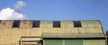 Tettoia del ferro ondulato, Immagini Stock