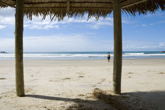 Tettoia della spiaggia Immagini Stock Libere da Diritti