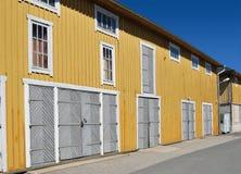 Tettoia di colore giallo Fotografia Stock