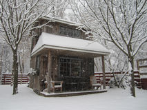 Tettoia di inverno Immagine Stock Libera da Diritti