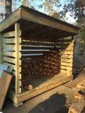 Tettoia di legno Immagini Stock