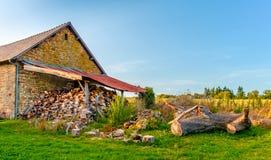 Tettoia di legno di Mayenne immagine stock