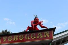 Teufel auf dem Dach Stockbild