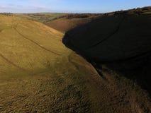 Teufel-Damm-Süd- Abstieg-Weise Ost-Sussex Lizenzfreie Stockbilder