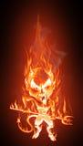 Teufel in den Flammen Stockfoto