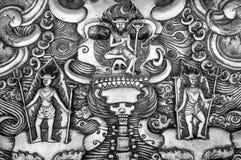 Teufel in der Hölle auf Tafelsilber, Thailand Stockfotos