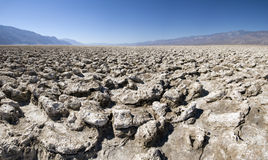 Teufel-Golfplatz in Death Valley NP Stockfotografie