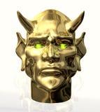 Teufel-Hauptfrontseite Stockfoto