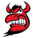 Teufel-Karikatur-Gesichts-Vektor-Illustration Lizenzfreies Stockbild