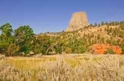 Teufel-Kontrollturm-nationales Denkmal, Wyoming, USA Lizenzfreie Stockfotografie