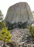 Teufel-Kontrollturm in Wyoming Lizenzfreies Stockbild