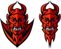 Teufel-Maskottchen-Zeichen Lizenzfreies Stockfoto