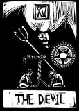 Teufel tarot Karte Stockfotos